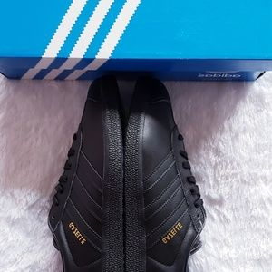 New Adidas Gazelle Black and Gold